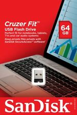 Sandisk 64GB Cruzer Fit SD USB 2.0 Flash Mini Micro Pen Drive SDCZ33 Retail