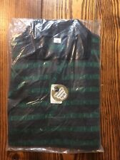 Vintage 50s - 60s Boy's Polo Pullover Shirt Size 10 Green & Black Still Has Tags