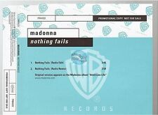 MADONNA nothing fails CD PROMO