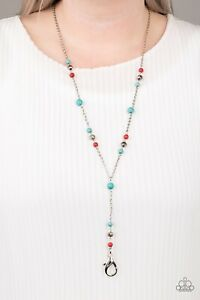 Paparazzi Sandstone Savannahs - Multi - Lanyard - Necklace & Earrings