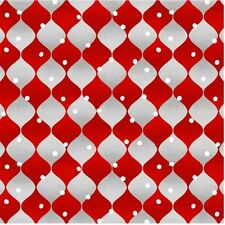Holiday Cheer Christmas Fabric Yardage Red Harlequin by Henry Glass By The Yard