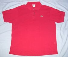 Lacoste  Men's Size 6 Short Sleeve Polo Style Shirt Color Red