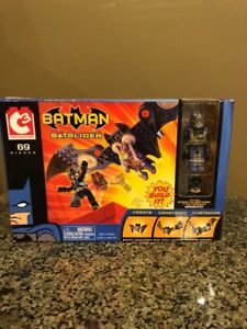 DC C3 Construction Batman Batglider with Mini-mates NIB
