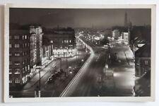 alte AK HAMBURG-St.Pauli Reeperbahn bei Nacht ~1960 mit Oldtimern