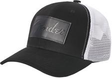 Genuine Fender® Debossed Logo Adjustable Hat, Black and White - Adjustable size