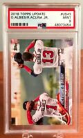 2018 Topps Update Ronald Acuna Jr Ozzie Albies #US43 Rookie Card RC PSA 9 MINT