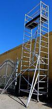 Aluminium Mobile Scaffold Tower F56-3 Scaffolding Standing 4.9m Overall 6m