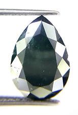 Rare 3.12TCW Pear Shape Green Gray Color Rose Cut Antique Natural Loose Diamond