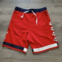 Nike Air Max Sportswear (Men's Size XL) Athletic Terry Fleece Red Shorts