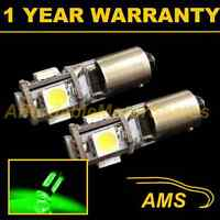 2X BA9s T4W 233 CANBUS ERROR FREE GREEN 5 LED SIDELIGHT BULBS HID SL101401