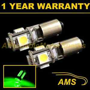 2X BA9s T4W 233 Canbus sans Erreur Vert 5 Feu Latéral LED Ampoules Hid SL101401