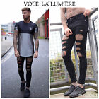 Vole La Lumiere Skinny Sinners, Hera, Ripped London Repaired Jeans Silk Black