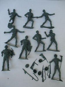 MPC Multiple Toymakers 5 Inch GI Toy Soldier Figures World War 2 WW2 Lot
