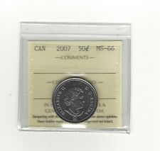 **2007** ICCS Graded, Canadian, 50 Cent, **MS-66**