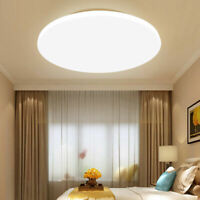 6500K Modern LED Ceiling Light Ultra Round Surface Mount Panel Down Lamp  W