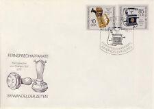 Ersttagsbrief DDR MiNr. 3226, 3229, Fernsprechapparate im Wandel der Zeiten