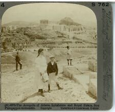 GREECE,  The Acropolis of Athens, Lykabettos & Royal Palace--Underwood #4
