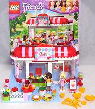 LEGO FRIENDS 3061 CAFE Andrea Marie Hamburger Gâteau Argent vaisselle complet + BA