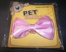 Dog or Cat PET PINK BOW TIE Attaches to Collar New in Package Glam Glitz Style