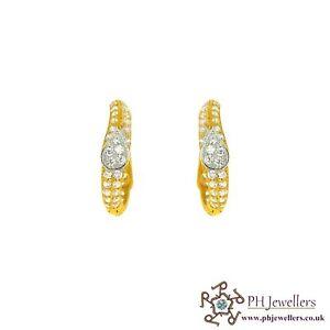 22ct 916 Hallmark Yellow Gold Clip On Earring CZ CE18