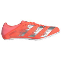 adidas Sprintstar Womens Ladies Running Spike Trainer Shoe Orange/White