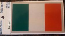 BRAND NEW BEST QUALITY REFLECTIVE IRELAND FLAG VINYL STICKER ADHESIVE DECAL