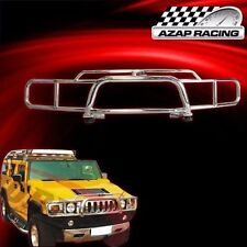 2003-2009 Brush Chrome Stainless Steel Grille Guard W/ H2 Logo For Hummer H2 SUV