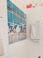 XL BAD DEKO SEESTERN WC Fliesen Wandtattoo Bad Wellness Meer Strand Aufkleber