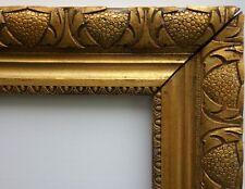 N° 395 CADRE Doré Art Déco XXème siècle  pour chassis  69,3 x 54,3 cm