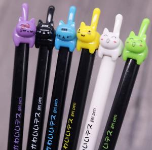Cat Pen Gift Black Ink Gift Kawaii Kitten Stationery Pens Writing White Blue UK