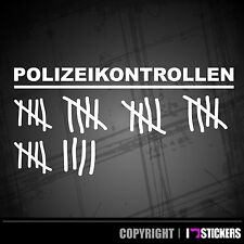 Polizeikontrolle Aufkleber  Shocker oem Jdm Sticker Polizei Tuning Scene  019