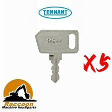 5pcs Tennant Sweeper Scrubber Ignition Keys 361144 R14 6100 6200 6400 7100 S20