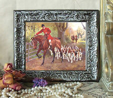 Drummond Horse Fox Hunt AT THE GATE Print Style Framed 11X13 pony d pc fh