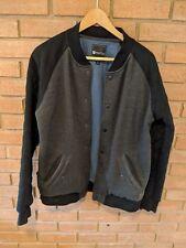 Matix Cotton Baseball Jacket Mens Size Medium (M) EUC Black Gray