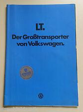 PROSPEKT VW LT TRANSPORTER 22 SEITEN DER GROSSRAUMTRANSPORTER VON VOLKSWAGEN