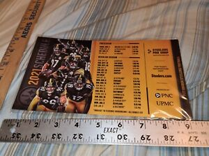 """2021 Pittsburgh Steelers Magnetic Schedule 9""""x5"""" inch"""