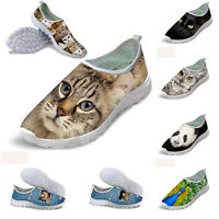 Women Ladies Animal Shoes Breathable Smart Casual Sports Shoes Running Sneakers