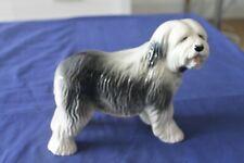 More details for vintage old english sheepdog black & white figurine