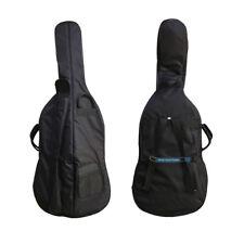 1x 3/4 Cello Bag Thick Advanced Sponge with Bow Music Score Bridge Rosin Pocket