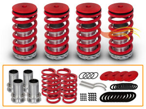 BCP 98-02 Honda Accord Adjustable Lowering Coilover Coil Springs Suspension RED
