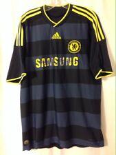Chelsea FC Blue/Black Stripes Football Soccer Jersey adidas Large 2009 Samsung