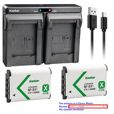 Kastar Dual Charger Battery for Sony NP-BX1 BC-CSX & Sony Cyber-shot DSC-WX350