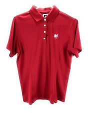FootJoy Red Golf Polo Shirt Size M Embroidered 1896