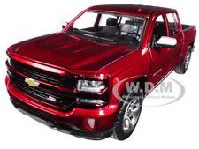2017 CHEVROLET SILVERADO 1500 LT Z71 CREW CAB RED 1/27 DIECAST MOTORMAX 79348