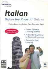 ANTES DE QUE SABE LO - Italiano Tutor, Tutorial Portátil Bolsillo PC versión