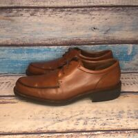ECCO Brown Leather Oxford Lace Up Men's Dress Shoes Size EU 42 US 8-8.5