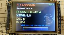 Vector antenna analyzer 0.1-55 and 143-148 MHz  with touch screen. DIY KIT