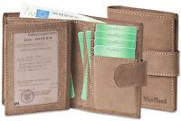 Woodland® moderne Leder Universal Geldbörse mit Außenriegel in Dunkelbraun