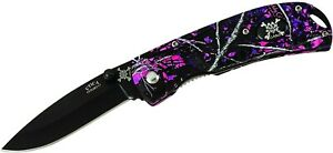 Muddy Girl Triple Action Assisted Open Knife, Moonshine Camo