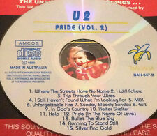 U2 Pride Vol. 2 Australian Live CD Rare 1993 Bono I Will Follow Exit Silver Gold